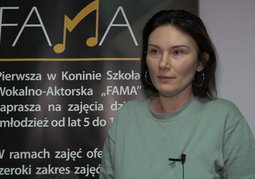"""Monika Urlik w konińskiej """"Famie""""."""