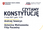 """""""Czytamy Konstytucję"""" – Andrzej Seweryn w Koninie."""